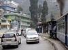 Darjeeling Himalayan Rly 0-4-0T No 795, leaving Darjeeling, Fri 30 March 2012 3 - 1615.