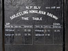 Darjeeling Himalayan Rly timetable, Kurseong station, Tues 27 March 2012 1.  This is the timetable that has been disrupted by the landslides.