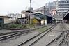 Darjeeling Himalayan Rly station, Kurseong, Tues 27 March 2012 2.  Looking towards 'Kurseong Junction.'  NB the partly dismantled turntable at left.