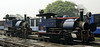 Darjeeling Himalayan Rly 0-4-0T Nos 792 Hawkeye & 788 Tusker, Siliguri Junction shed, Tues 27 March 2012.  Spot the differences!
