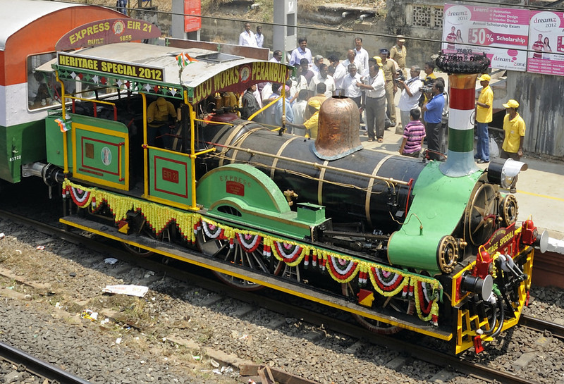 East Indian Rly No 21 Express, Guindy, Fri 23 March 2012 1 - 1254.  The end of a marvellous but all too brief journey.