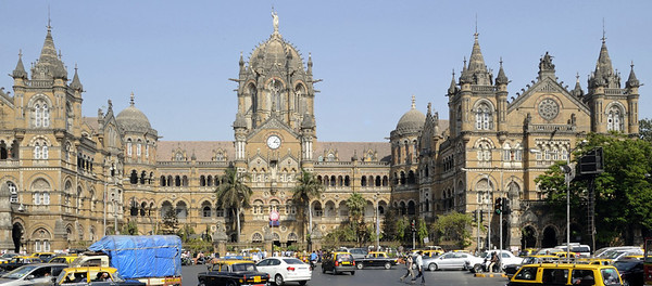 Chhatrapati Shivaji Terminus (CST), Mumbai, Sat 17 March 2012 1.  The former Victoria Terminus was completed in 1888.  It has recently been renamed after the 17th century warrior who founded a Maratha kingdom independent of the Mughal empire.  Today, Shivaji is a Hindu hero.  (Chhatrapati = King.)