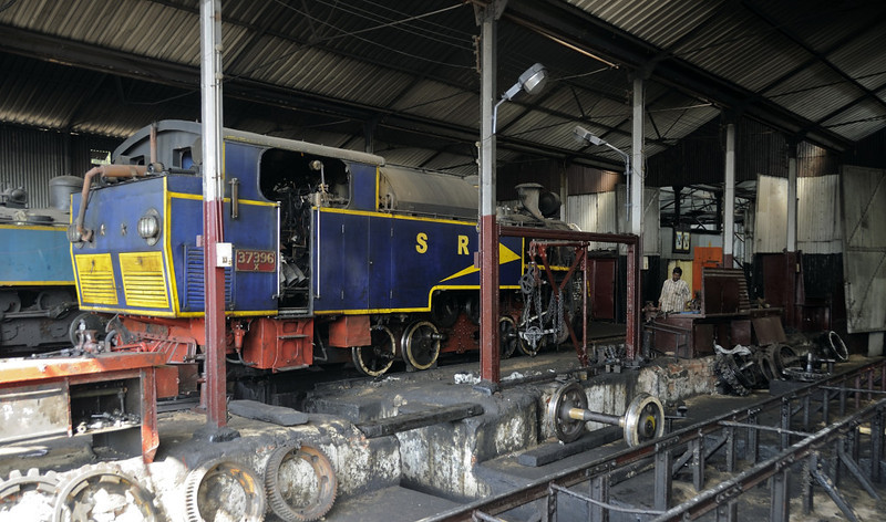 37396, Coonor, Tues 20 March 2012.   The first of four additional X class locos being built by Indian Rlys' Golden Rock Works, Tiruchirapalli, it entered  service in March 2011.