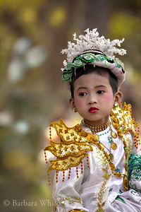 Boy Dressed As Lord Buddha