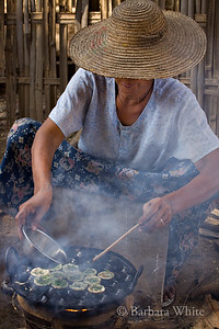 Woman Making Little Pies