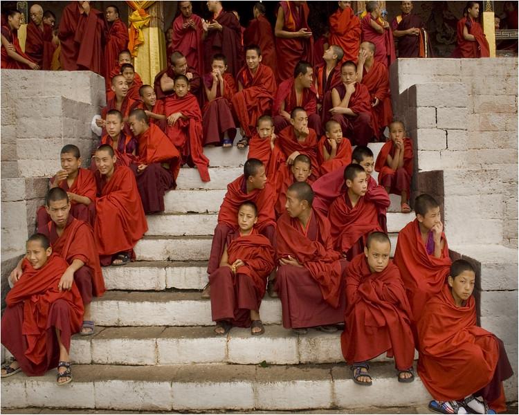A festival celebration  in Bhutan