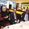 Finance Minister Arun Jately speaking at a reception hosted by India-America Chamber of Commerce at Tulsi restaurent in New York on 19th April 2016, in center Chamber President,     Rajiv Khanna and at right Indian Ambassador to USA Arun Singh at right....pic ohammed Jaffer-SnapsIndia