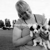 Robin Klemick of Chazy has two Welsh Pembroke Corgi puppies that are three and a half weeks old. According to Klemick, they are a favorite of the Queen of England. Phoebe and Bonnie will grow to between 20 and 30 pounds and are the only two puppies without homes from a litter of five. Information about the puppies is available at the Chazy local veterinarian's office.<br><br>(Staff Photo/Kelli Catana)