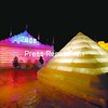 The 2008 Saranac Lake Winter Carnival Ice Palace glows in the night, featuring a pyramid for the first time since the 1920s. This is the final weekend of the Winter Carnival, with the annual Variety Show planned for tonight, a popular parade Saturday and fireworks to conclude festivities Sunday. Check the schedule, Page A3.<br><br>(P-R Photo/Todd Bissonette)