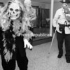 """The Senior Citizens Council held a costume contest Thursday; Mary Milne of Morrisonville as """"The Underworld"""" and Lucille Carter of Plattsburgh as """"Pirate"""" paraded around the room and were judged as two of the best costumes in the crowd.<br><br>(Staff Photo/Kelli Catana)"""