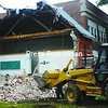 The former St. John's School building is being demolished to make room for College Suites at SUNY Plattsburgh, a 400-bed student-housing complex that will be occupied by fall 2009. The new housing complex is being developed by United Group of Companies. <br><br>(Staff Photo/Kelli Catana)