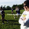Clinton Community College women's soccer coach Donna Dixon is smiling Thursday as she prepares her Cougars for Sunday's season opener with Onondaga Community College. The teams will kick off the season in Plattsburgh at 1 p.m.<br><br>(P-R Photo/Michael Betts)