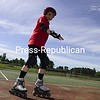 Marilyn Egan takes her daughter's inline skates out for a spin in Plattsburgh. Egan has been inline skating for a year. Staying active clears your mind and gives you energy, Egan says. Adults need at least 150 minutes of moderate-intensity physical activity each week, in addition to muscle-strengthening activities, according to the U.S. Centers for Disease Control and Prevention.<br><br>(P-R Photo/Michael Betts)