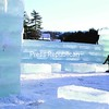 """The 2009 Saranac Lake Winter Carnival ice palace is under construction, with ice blocks from Pontiac Bay topping the charts at 18 inches thick. The carnival, with a """"Pirates of the Adirondacks"""" theme, begins next week. Story, Page A3.<br><br>(Staff Photo/Kim Smith Dedam)"""