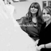 Chelsea McGibbon and her mother, Donna Paola, show their favorite prom dress. They organized the Chelsea's Closet event at Northeastern Clinton Central School, giving away prom gowns, shoes and accessories. At 6:30 p.m. on Tuesday, a prom swap will take place at Chazy Central Rural School.<br><br>(Staff Photo/Kelli Catana)