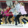 """The advanced members of the Skating Club of the Adirondacks rehearse for their upcoming performance of """"Grease: Rocks the Ice"""" Tom Messner will narrate with live performances by vocalists Natalie Ward and Ben Bright.<br><br>(P-R Photo/Michael Betts)"""
