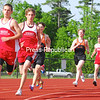 Saranac's Josh Wade leads the field in the boys' 1,600-meter run Tuesday at Plattsburgh High School. Wade was a double winner for the Chiefs who defeated the host PHS Hornets 86-45. Bonus photos will be available at pressrepublicanphotos.com at midday.<br><br>(P-R Photo/Rachel Moore)