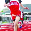 Saranac's Micah Patterson runs a leg of the 3,200-meter relay Tuesday, helping the Chiefs to victory in the event and the meet.<br><br>(P-R Photo/Rachel Moore)