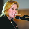 U.S. Sen. Kirsten Gillibrand speaks at the Clinton County Salute to Labor Sunday afternoon at the Rainbow Banquet Hall in Altona. Gillibrand also met with area business and government leaders in Plattsburgh.<br><br>(P-R Photo/Michael Betts)