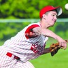 Schroon Lake ace Ethan Tyrrell fires away in MVAC baseball championship game Friday in Willsboro. Tyrrell pitched a shutout as the Wildcats defeated Indian Lake/Long Lake 7-0.<br><br>(Staff Photo/Alvin Reiner)