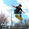 James Sherman, 18, of Plattsburgh launches himself into the air off a ramp in the skateboard park at Melissa L. Penfield Park in Plattsburgh Sunday.<br><br>(P-R Photo/Gabe Dickens)