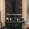A wood stove is used for cooking and heating in the kitchen.<br><br>(Staff Photo/Robin Caudell)