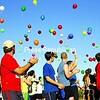 Participants in the 20th-annual Run for Jon at Forrence Orchards in Peru Saturday release balloons with notes attached that race organizers hope will get the word out wherever they land throughout the North Country, asking people to support the cause. The event is held in honor of Jonathan Evans, who died at age 14 from a rare form of cancer. This year, the race raised more than $5,700 for the Jonathan Evans Memorial Fund, which helps North Country families with a sick child pay for transportation associated with treatment. Bonus photos from this event are available online at www.pressrepublican.com.<br><br>(P-R Photo/Gabe Dickens)
