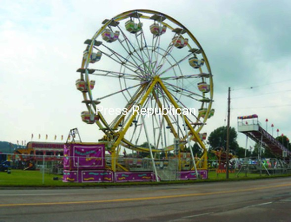 Amusements of America has rides and attractions up and ready for visitors to enjoy as the 160th edition of the Franklin County Fair begins Saturday.<br><br>(Staff Photo/Denise A. Raymo)