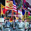 Soldiers from Fort Drum stand at attention during a rededication ceremony held Wednesday at Whiteface Mountain in Wilmington.  The annual event marks the Whiteface Highway's dedication to the 10th Mountain Division and the 1st Mountain Division of ski troops in World War II.<br><br>(P-R Photo/Jack LaDuke)