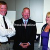 Pat Rascoe (left) and Mike Branch of the Plattsburgh City Police Department are shown with Safe Schools Administrator Wanda McQueen during a break at the Essex County School Safety Day.<br><br>(Staff Photo/Alvin Reiner)