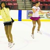 Brianna Oricchio (left), 14, of Plattsburgh and Megan Rushby, 14, of Elizabethtown practice their routines Sunday evening at the Plattsburgh State Field House in preparation for the Skating Club of the Adirondack's Sugar and Ice Holiday Extravaganza set for 4:30 p.m. Saturday at the Field House.<br><br>(P-R Photo/Gabe Dickens)