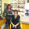 Ann Marie Monostori (left) has opened a new business, Ann Marie's Salon, at 5091 South Catherine St. in Plattsburgh. She has been joined by Tara Martinez (seated), who specializes in clipper cuts for men. She offers full-style makeovers, manicures, pedicures, cut/styles, coloring, foils, perms, waxing, straightening, up dos, hair-care gift baskets and more. She is open from 10 a.m. to 6 p.m. Monday through Friday and by appointment early mornings, evenings and weekends. For more information, call 566-8118. <br><br>(P-R Photo/Bruce Rowland)