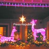 One house on Oak Street displayed pink deer on the porch.  <br><br>(P-R Photo/Andrew Wyatt)