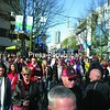 The masses of people who have taken over Granville Street in crowded downtown Vancouver during the Olympic Games.<br><br>(P-R Photo/Colin Aprill)