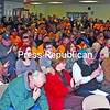 More than 200 people packed the Knights of Columbus hall in Port Henry Thursday night to show support for keeping the Moriah Shock Incarceration Facility running.<br><br>(Staff Photo/Lohr McKinstry)