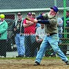 Post 20's Dave Mayette strokes the game-winning hit against Post 912 in the 2nd Annual Old Timers Softball Tournament at the American Legion Post 1619 in West Plattsburgh. <br><br>(P-R Photo/Gabe Dickens)