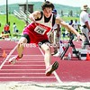 Saranac's Jake Spear competes in the boys' triple jump at the NYSPHSAA state track & field championships in Vestal Friday. Spear finished 12th.<br><br>(P-R Photo/Mike Okoniewski)