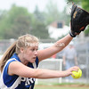 Morgan Flynn delivers a pitch in the Class B championship game. Flynn threw a two-hitter and Peru beat Plattsburgh High 2-0.<br><br>(P-R Photo/Andrew Wyatt)