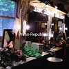 Costume parts, props, makeup and lights adorn the dressing room counter backstage.<br><br>(Staff Photo/Kim Smith Dedam)