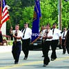 Members of the American Legion from Elizabethtown and Lewis lead off the parade in Elizabethtown. <br><br>(Staff Photo/Alvin Reiner)