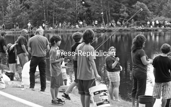 Hundreds of youths turned out for the 20th-annual Roe Pond Fishing Tournament over the weekend in Moriah. The derby is held for children age 15 and younger.<br><br>(Staff Photo/Lohr McKinstry)