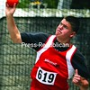Section VII championship action continues Saturday in Plattsburgh and Lake Placid.Shot-putter Corey Duval helped Saranac sweep the track & field titles for the second year in a row.<br><br>(Staff Photo/Alvin Reiner)