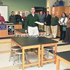 Glen Carpenter, construction manager for the $23 million Ticonderoga Central School District building project, conducted tours of the new Elementary-Middle School wing recently. Parents and residents came out to see new science labs, like this one, along with the classrooms, cafeteria and kitchen.<br><br>(Staff Photo/Lohr McKinstry)