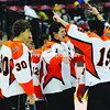 Plattsburgh High School players celebrate their 2-1 victory over Beekmantown Monday night in the Section VII Div. II Hockey Championship game at the Plattsburgh State Field House.<br><br>(Staff Photo/Kelli Catana)