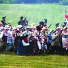 During a Revolutionary War battle at Ticonderoga, a contingent of about 100 women and children are led to safety after having to flee due to their loyalty to the king.<br><br>(Staff Photo/Alvin Reiner)