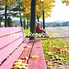 Although high winds and rain have removed most of the colorful autumn foliage from trees, a few still hold on to some golden color. Two people sit in the Saranac Lake Village Park and admire the last of the autumn decor.  <br><br>(P-R Photo/Jack LaDuke)
