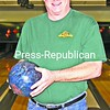 """Paul """"PK"""" Coolidge bowled a 300 game in the Riverside Tournament at AuSable Forks.<br><br>(P-R Photo/Tom O'Neill)"""