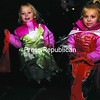 Jezabella Cohen, 3, and Gavriella Cohen, 2, show off their Halloween costumes Sunday evening while trick-or-treating on Bailey Avenue in Plattsburgh.<br><br>(Staff Photo/Kelli Catana)