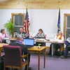 Members of the Keeseville Village Board meet in their new location at 58 Liberty St., Keeseville. Village Offices, which used to be located at the Civic Center, are all settled in the new site, which is also home to a New York State Police substation.<br><br>(P-R Photo/Andrew Wyatt)