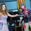 Katie Moffett and Brandon Martineau of Plattsburgh dance to DJ music at the Zombie Prom on the Plattsburgh State campus Saturday night. The dance was a follow-up event to the annual Zombie Walk event through downtown Plattsburgh. <br><br>(P-R Photo/Andrew Wyatt)